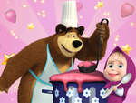 Masha și Bear Cooking Dash joc