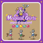 Magical girl Save the school game