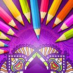 Mandala carte de colorat joc