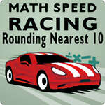 Math Speed Racing Rounding 10 game