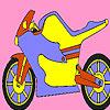 Motocicleta din metal colorat joc