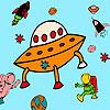 Meteorit a astronauti sfarbenie hra