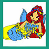 Melancholy mermaid coloring game