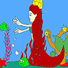 Mermaid and fishes coloring game