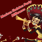 Mexican Skeleton Party Difference game