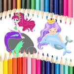 Livre de coloriage de sirène jeu