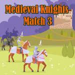 Mittelalterliche Ritter Match 3 Spiel