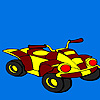 Mini street concept bike coloring game