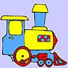 Mini zöld vonat színező játék