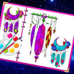 Miracoloso libro da colorare dream catcher gioco
