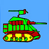 Modern military tank coloring game