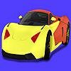 Modern koncepció autó színezés játék