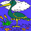 Mountain heron coloring game