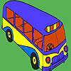Modern school bus coloring game