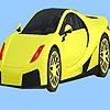 Modern városi autó színező játék