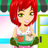 Moderne cuisine desservant Dress up jeu