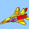 Moderne oorlog vliegtuig kleuren spel