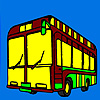 Modern city bus coloring game