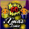 Scimmia andare felice - tempo di Natale gioco