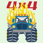 Pagine da colorare Monster Trucks gioco