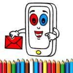 Mobiltelefon kifestőkönyv játék