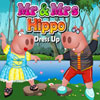 Mr and Mrs Hippo Dress Up game