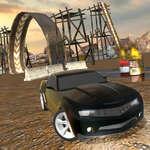Muddy Village Car Stunt game