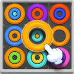 Неонови кръгове Пъзели игра