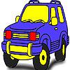 Colorear jeep de bosque bonito juego