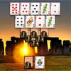 Oude wereld stenen Solitaire spel