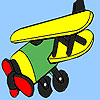 Oude westerse vliegtuig kleuren spel