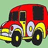 Régi időben autó színező játék