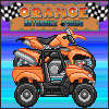 Course de moto orange jeu