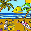 Palm beach coloring game