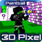 Paintball Gun Pixel 3D Multiplayer joc