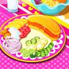 Perfektes Frühstück Dekoration Spiel