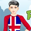 Fille de Peppy Islande patriotique jeu