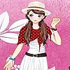 Vestido de niña de jardín color de rosa juego