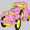 Pink historic car coloring game