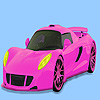 Pink gorgeous car coloring game