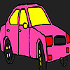 Pink city taxi coloring game