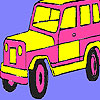 Pink mountain jeep coloring game