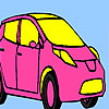 Pink personal car coloring game