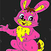 Pink sweet rabbit coloring game