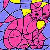 Colorazione del gatto di casa rosa gioco