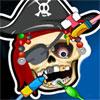 Esqueleto de pirata en el dentista juego