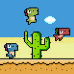 Pixel Dino Run game