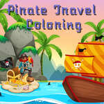 Pirate Travel Coloring game