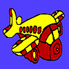 Podgy aircraft coloring game
