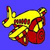 Valaki repülőgép színező játék